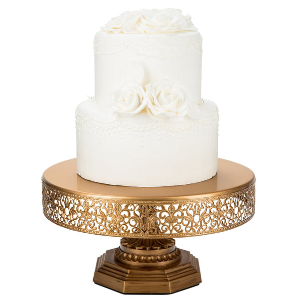 12 Inch Gold Metal Cake Stand Amalfi Decor