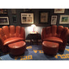 Cooperstown Baseball Glove Chair and Ottoman