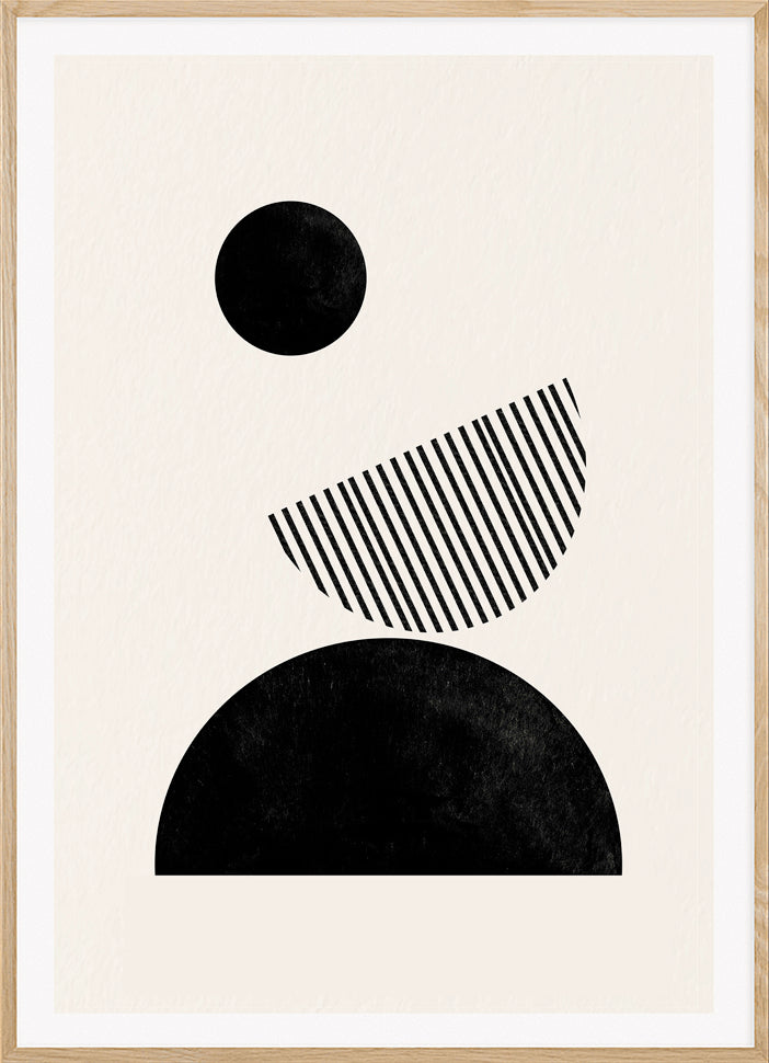 'MIDNIGHT' WOODBLOCK PRINT - This artwork inspired by mid century design is part of our abstract collection and is an original piece of work designed in our Warsaw Studio.