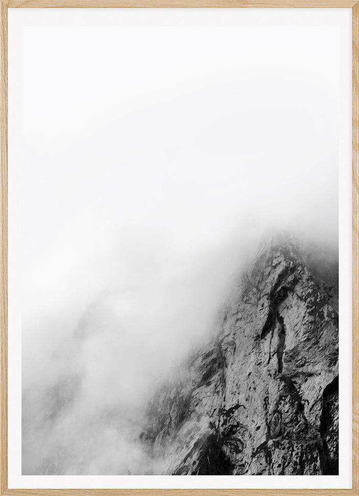 MOUNTAIN FOG black and white photography.