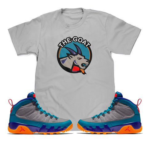 0fdebb4ba22ed0 The Goat Tee (Designed to match Air Jordan 9 Boot Green Abyss Sneakers)