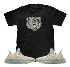 Bear T-Shirt Designed To Match Adidas Yeezy Boost 350 V2 Israfil Sneakers
