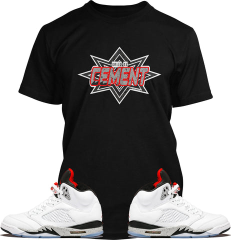 Solid As Cement Tee (Designed to match Air Jordan 5 White Cement Sneakers)