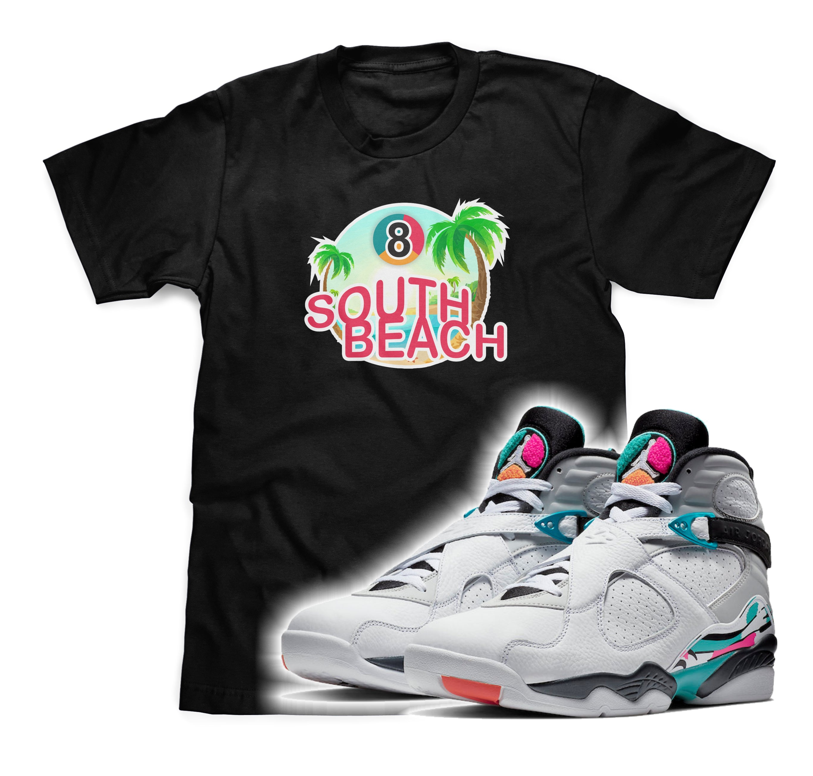 South Beach Tee (Designed to match Air Jordan 8 South Beach Sneakers)
