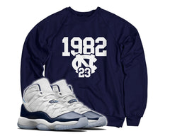 1982 North Carolina Tee (Designed to match Air Jordan 11 Win Like 82 Sneakers)