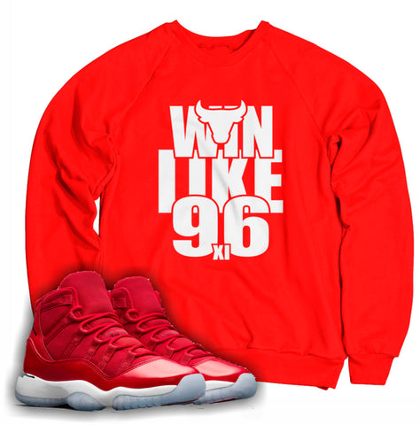 Win Like 96 Tee (Designed to match Air Jordan 11 Win Like 96 Sneakers)