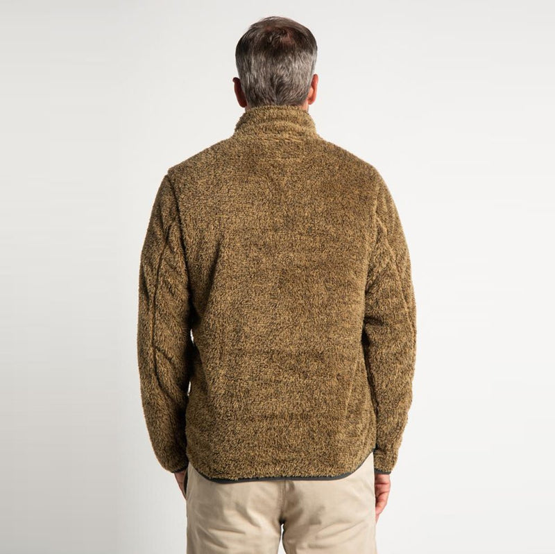 Melange Shag Sherpa Snap Pullover - True Grit - The Sherpa Pullover Outlet