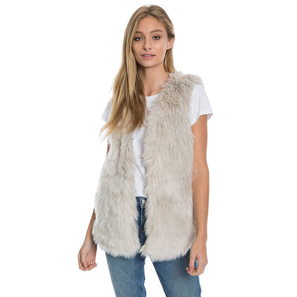 Melange Fur Vest - Dylan - The Sherpa Pullover Outlet