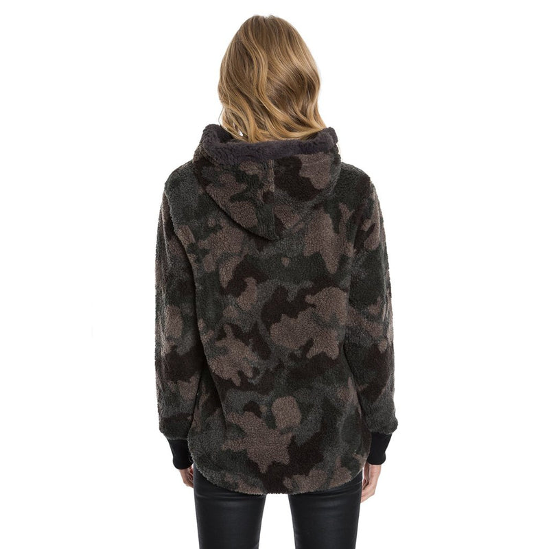 Heather Pile Camo Side Zip Hoodie - True Grit - The Sherpa Pullover Outlet