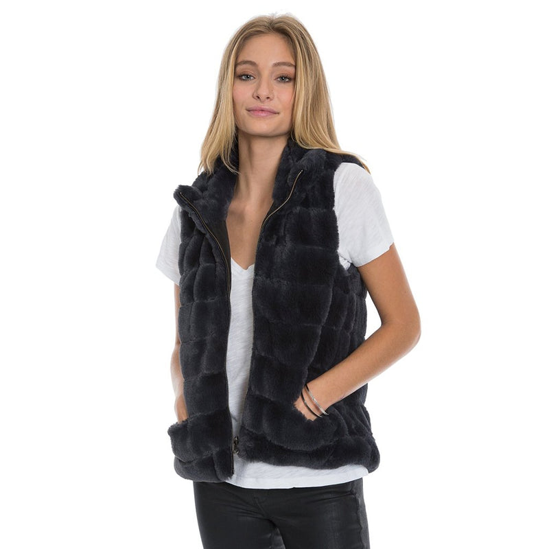 Reversible Fur Love Vest - Dylan - The Sherpa Pullover Outlet
