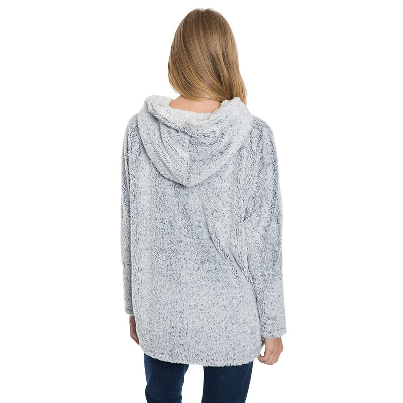 Long Cozy Shag Sherpa Hoodie - True Grit - The Sherpa Pullover Outlet