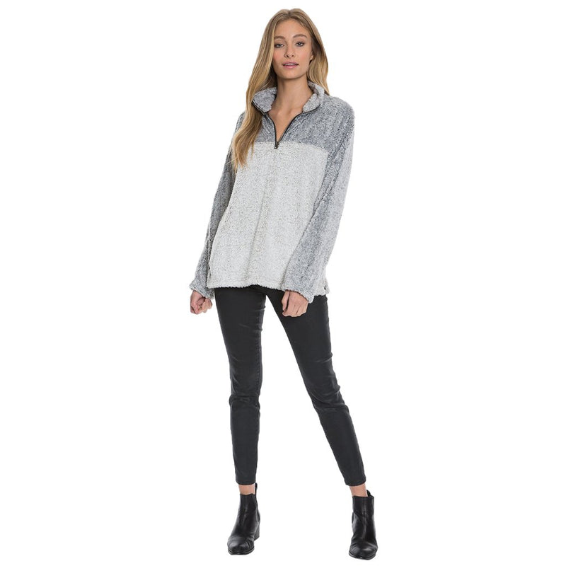 Tipped Shag Sherpa Pullover - True Grit - The Sherpa Pullover Outlet