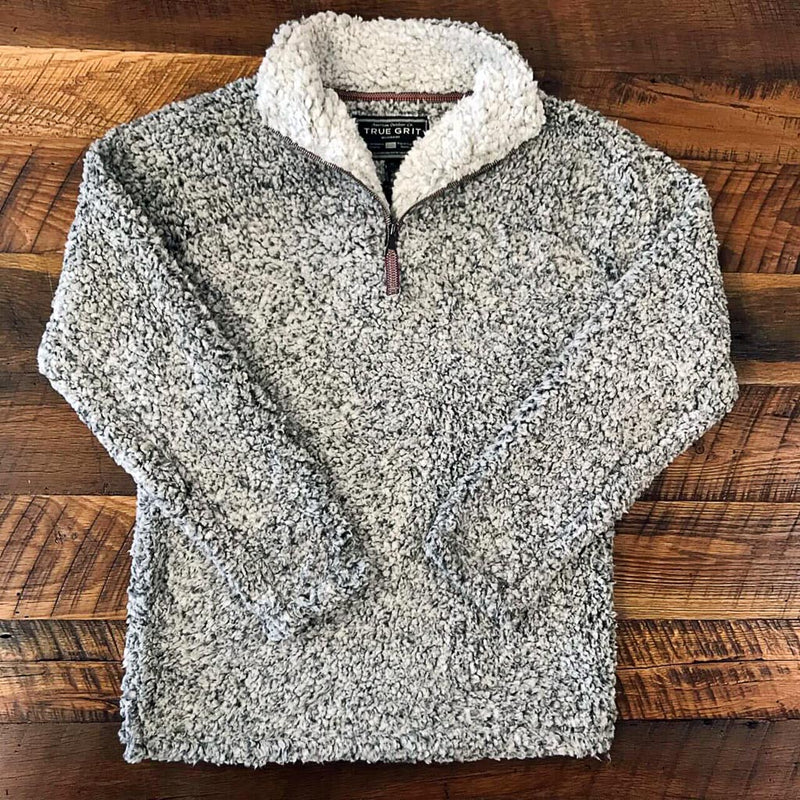The Original Frosty Tipped Pullover Jacket - True Grit - The Sherpa Pullover Outlet