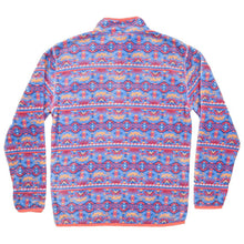 Dorado Fleece Pullover in French Blue and Peach by Southern Marsh  - 2