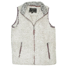 Frosty Tipped Double Up Vest in Putty   - 1