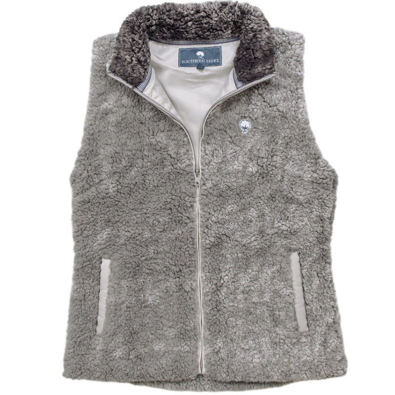 Heathered Zip Sherpa Vest - The Southern Shirt Co. - The Sherpa Pullover Outlet