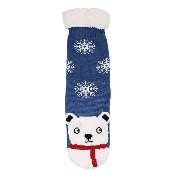 Bob the Polar Bear Sherpa Lined Socks - Nordic Fleece - The Sherpa Pullover Outlet