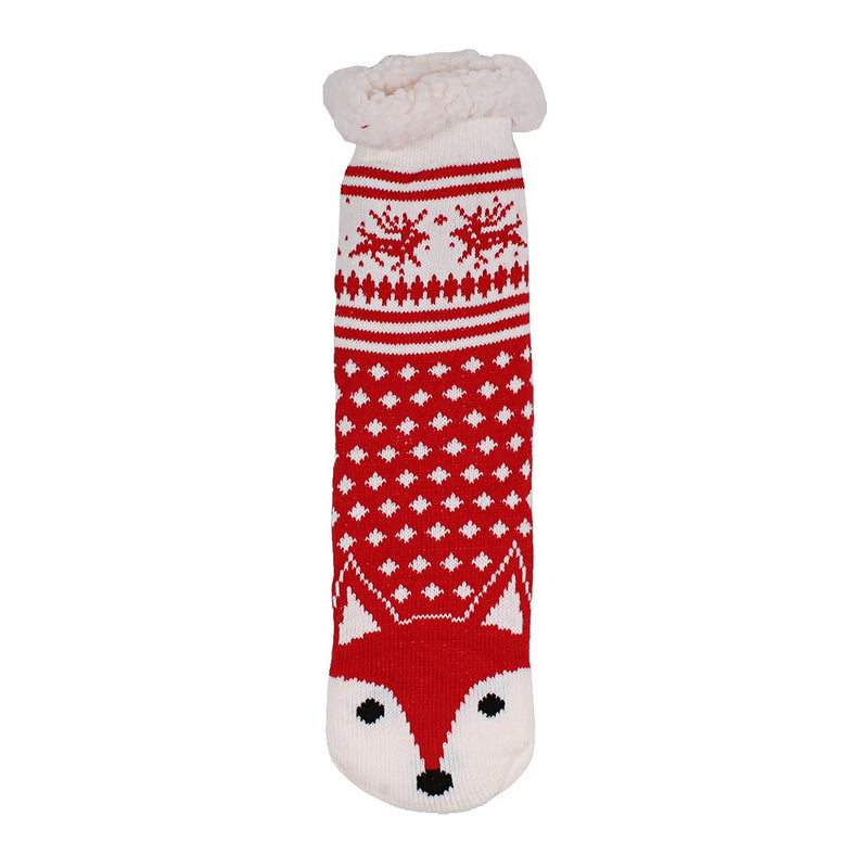 Todd the Fox Sherpa Lined Socks - Nordic Fleece - The Sherpa Pullover Outlet