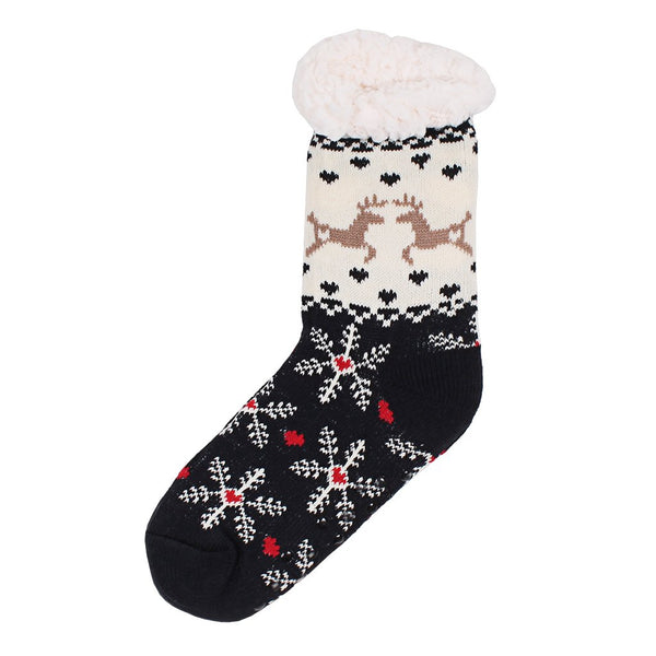 Dasher and Dancer Sherpa Lined Socks - The Sherpa Pullover Company