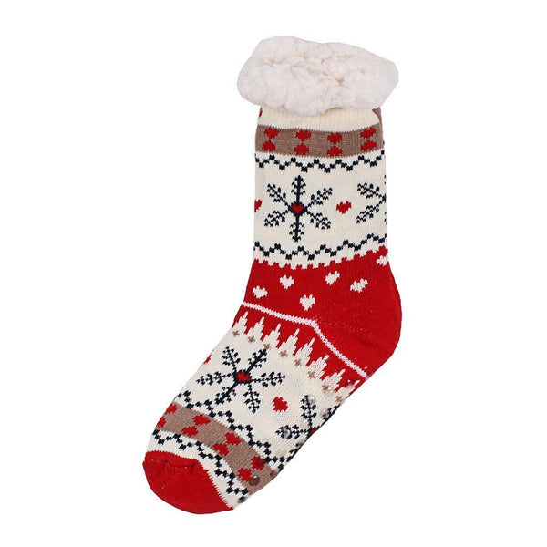 Christmas Sweater Sherpa Lined Socks - The Sherpa Pullover Company