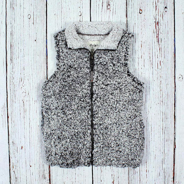 Women's Frosty Tipped Stadium Vest - Dylan - The Sherpa Pullover Outlet
