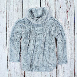 Shag Sherpa Soft Cowl Neck - Dylan - The Sherpa Pullover Outlet