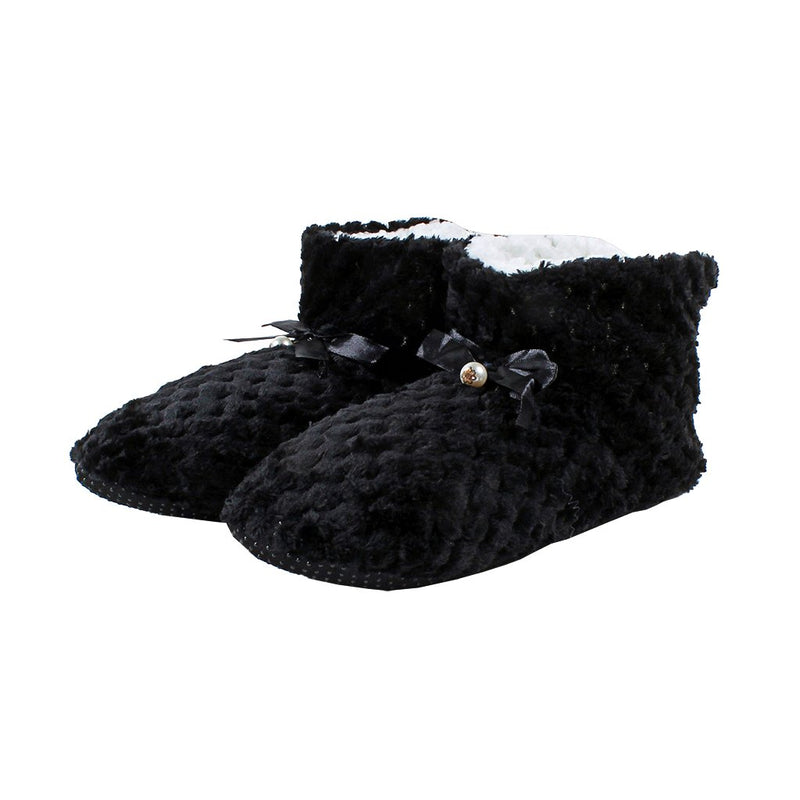 Pearl Bow Fleece Booties - Nordic Fleece - The Sherpa Pullover Outlet