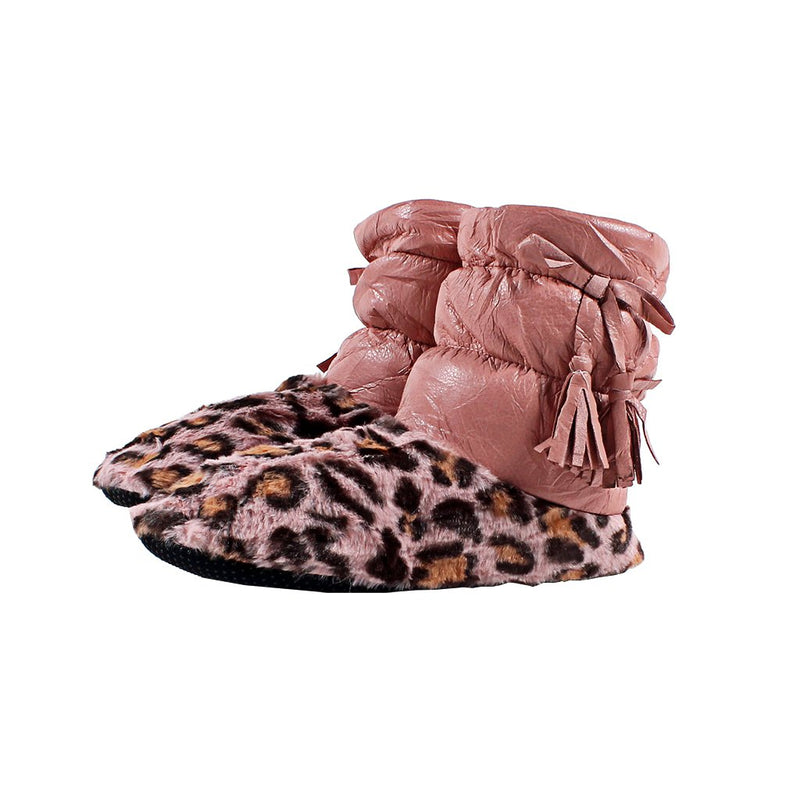 Oslo Leopard Sherpa Booties - Nordic Fleece - The Sherpa Pullover Outlet