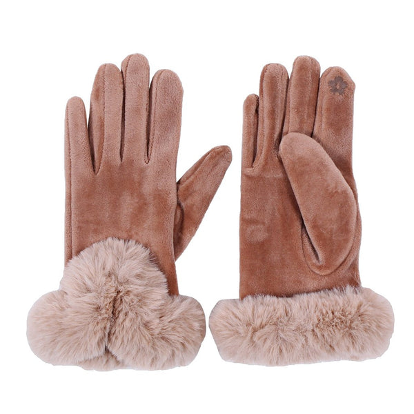 Suede Sherpa Gloves - Nordic Fleece - The Sherpa Pullover Outlet