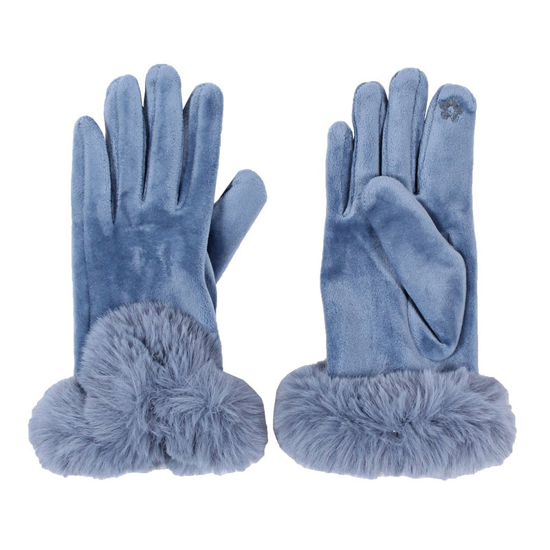 Suede Sherpa Gloves - The Sherpa Pullover Company
