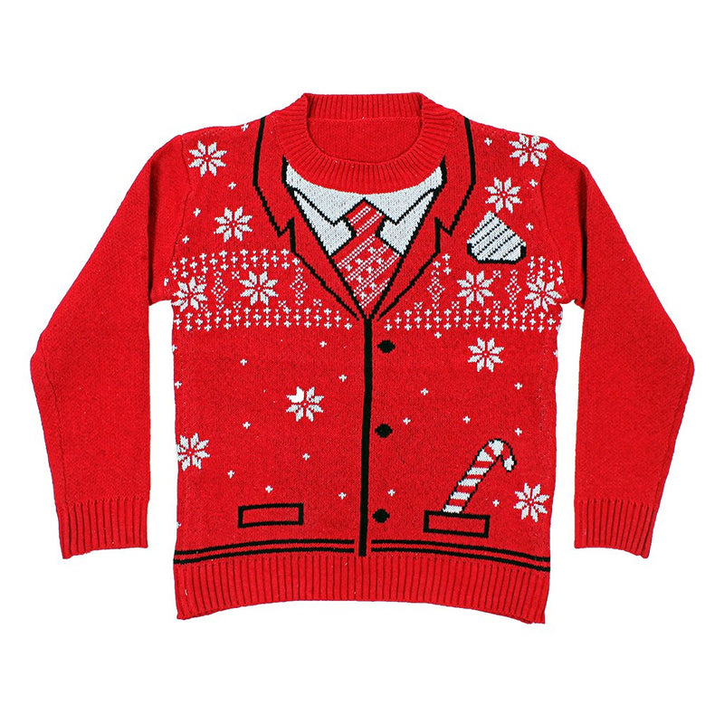 The Uncle Bing Christmas Suit Sweater - The Sherpa Pullover Company