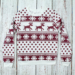 Fleece Lined Christmas Sweater - Preppy Elves - The Sherpa Pullover Outlet