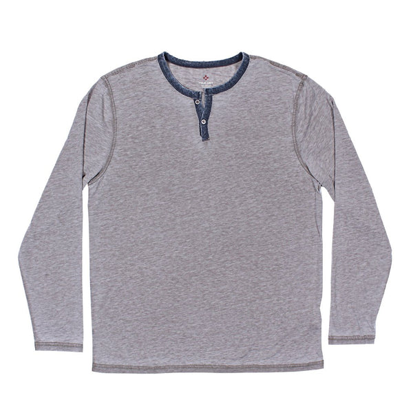 Bowery Burnout Long Sleeve Slit Tee - True Grit - The Sherpa Pullover Outlet