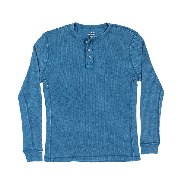 Bowery Waffle Thermal Long Sleeve Crew - True Grit - The Sherpa Pullover Outlet