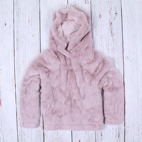 Shearling Faux Fur Hoodie - Dylan - The Sherpa Pullover Outlet