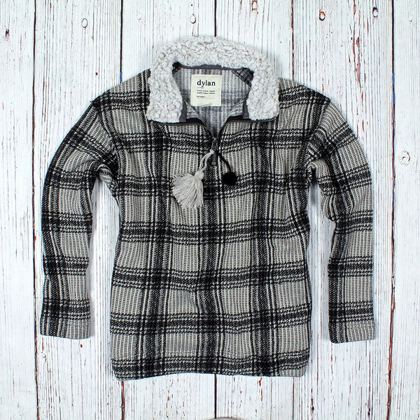 Cabin Plaid 1/4 Zip - Dylan - The Sherpa Pullover Outlet