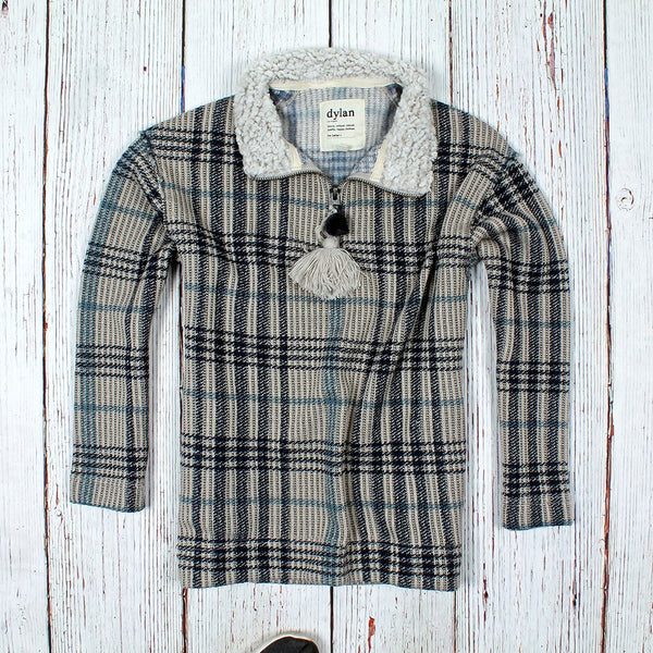Andee Plaid 1/4 Zip - The Sherpa Pullover Company