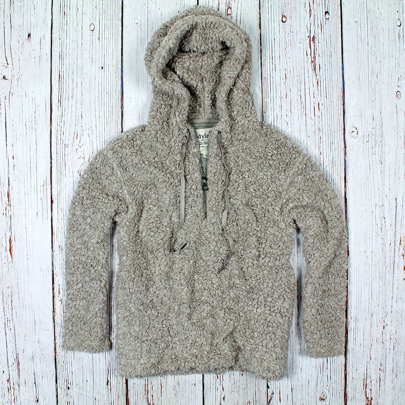 Shearling Drop Shoulder Hoodie - Dylan - The Sherpa Pullover Outlet