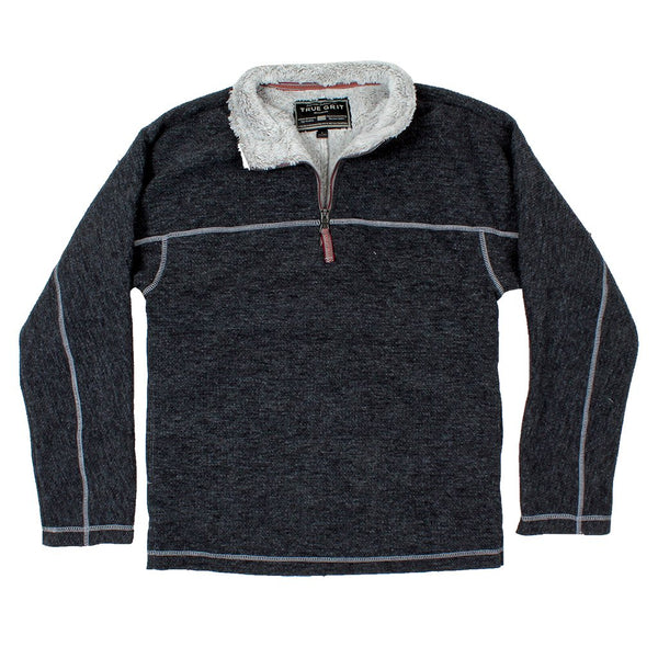 Bonded Sweater Knit 1/4 Zip Pullover - True Grit - The Sherpa Pullover Outlet
