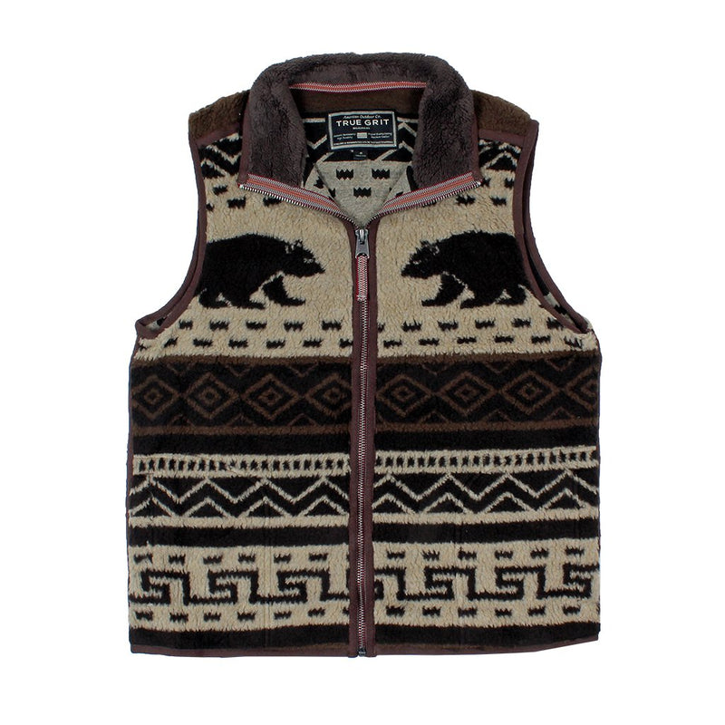 Tribal Bear Vest - True Grit - The Sherpa Pullover Outlet