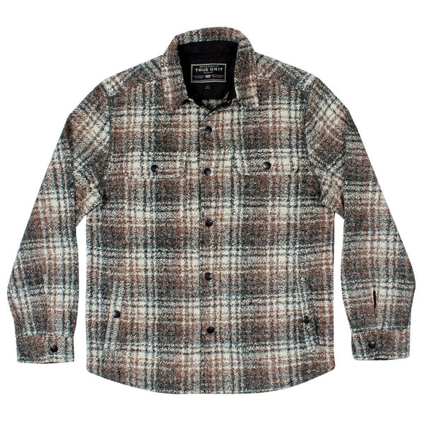 Melange Crossroads Snap Jacket - True Grit - The Sherpa Pullover Outlet