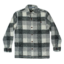 Melange Square Plaid Long Sleeve Big Shirt - True Grit - The Sherpa Pullover Outlet