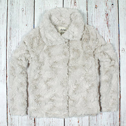 Faux Fur Plush Jacket - True Grit - The Sherpa Pullover Outlet