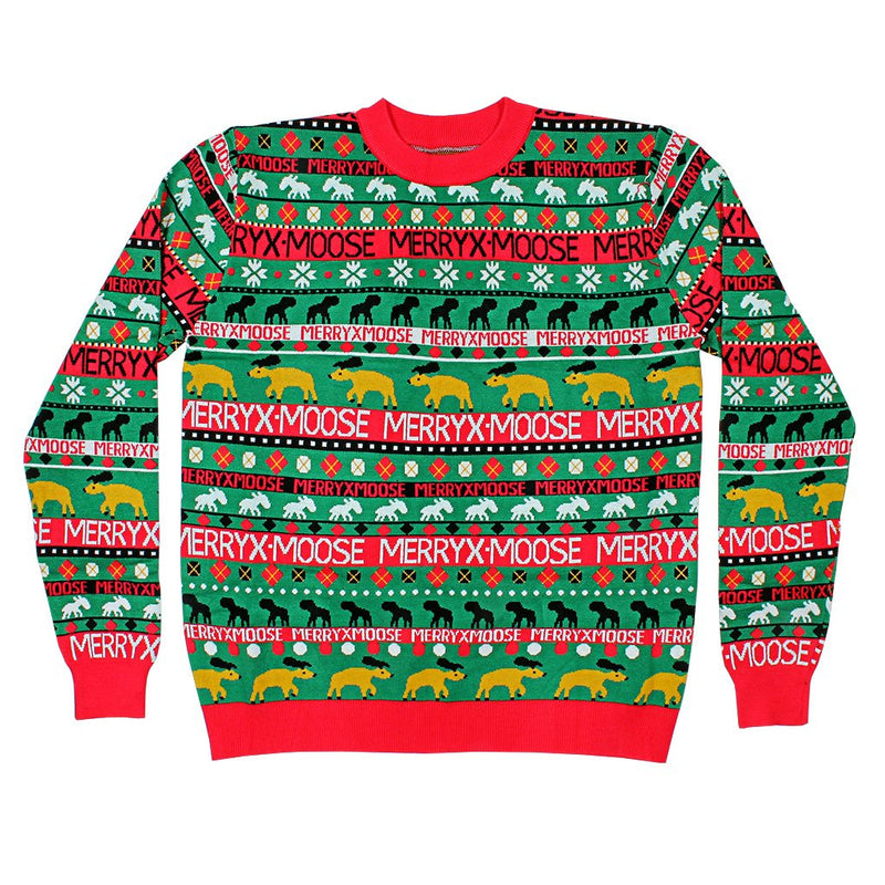 Moose Merry Christmas Sweater - Preppy Elves - The Sherpa Pullover Outlet