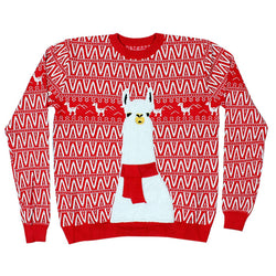 No ProbLlama Christmas Sweater - Preppy Elves - The Sherpa Pullover Outlet