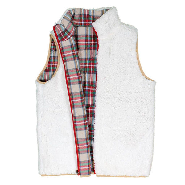 Lillesand Reversible Sherpa Vest - Nordic Fleece - The Sherpa Pullover Outlet