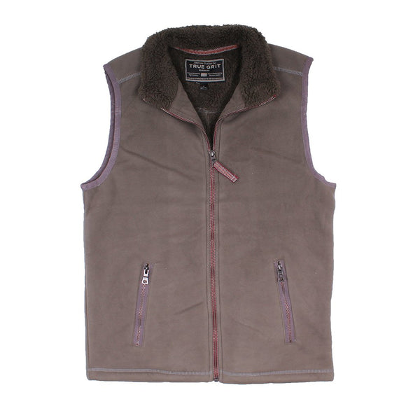 Bonded Polar Fleece & Sherpa Lined Vest - FINAL SALE - True Grit - The Sherpa Pullover Outlet