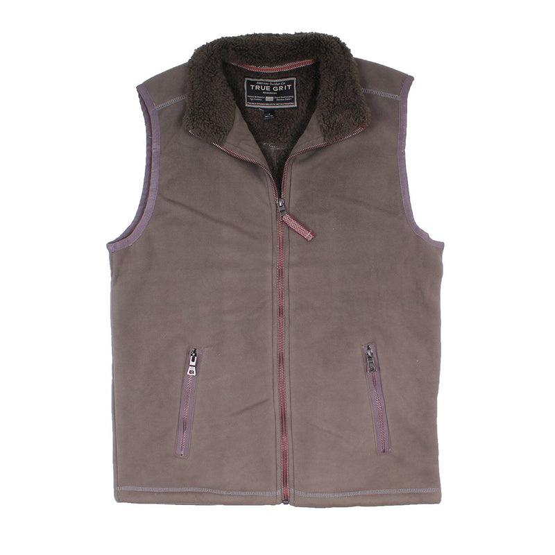 Bonded Polar Fleece & Sherpa Lined Vest - True Grit - The Sherpa Pullover Outlet