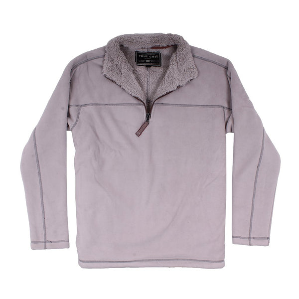 Bonded Polar Fleece & Sherpa Lined 1/4 Zip Pullover with Pockets - The Sherpa Pullover Company