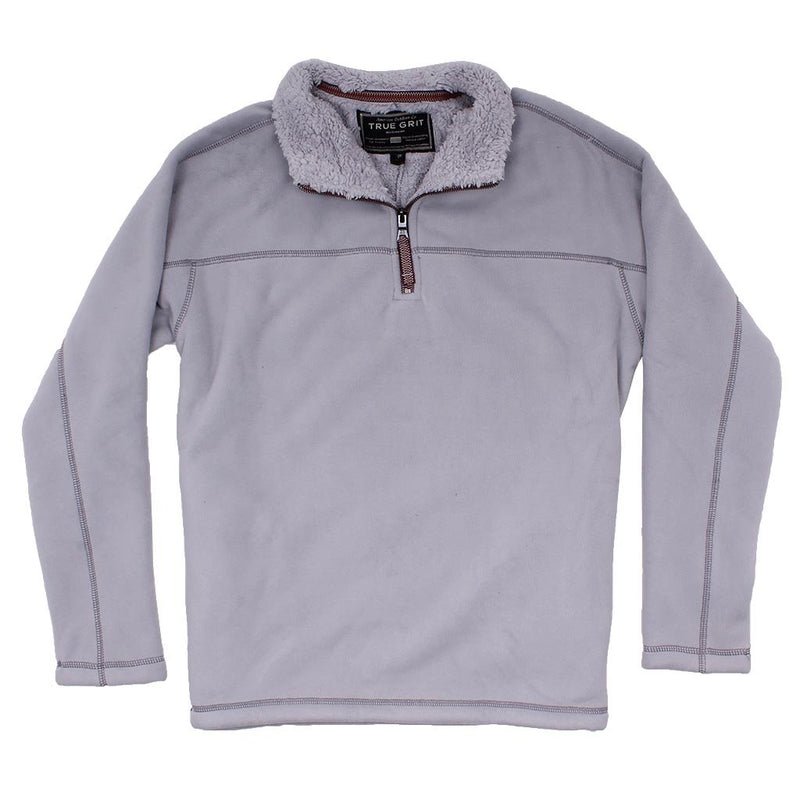 Bonded Polar Fleece & Sherpa Lined 1/4 Zip Pullover with Pockets - FINAL SALE - True Grit - The Sherpa Pullover Outlet